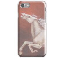 Airborne - White Horse Leaping Across Sky iPhone Case/Skin
