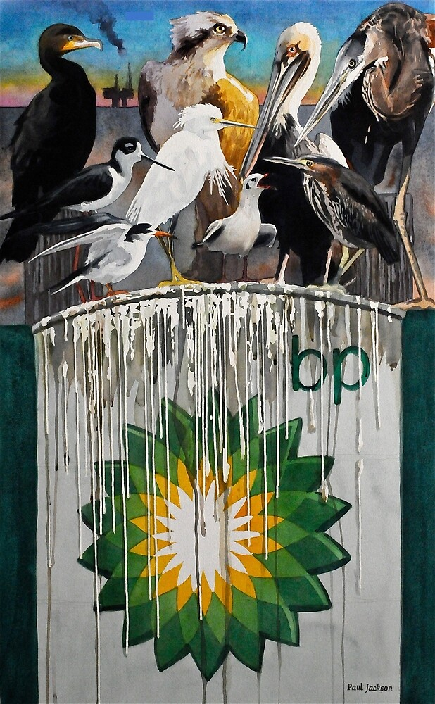 Fowl Language Watercolor by Paul Jackson