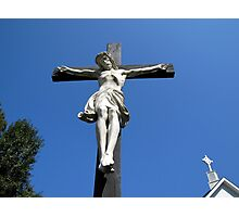 Statue of Jesus On The Cross Photographic Print