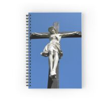 Statue of Jesus On The Cross Spiral Notebook