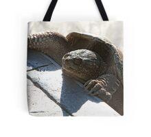 Swimming Pool Turtle Closeup Tote Bag