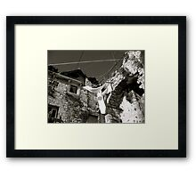 I imagine happy people live in this house Framed Print