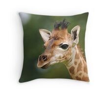 Inquisitive Baby Throw Pillow