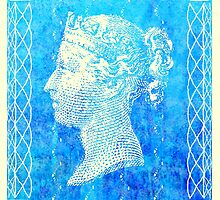 Two Penny Blue Postage Stamp by jripleyfagence