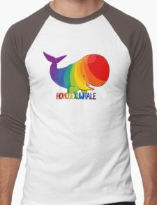 Homosexuwhale - with text Men's Baseball ¾ T-Shirt