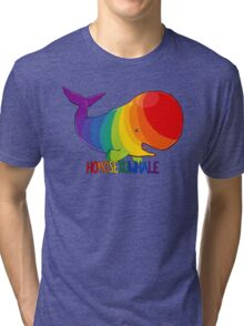 Homosexuwhale - with text Tri-blend T-Shirt