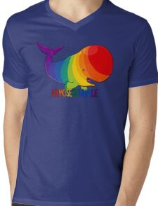 Homosexuwhale - with text Mens V-Neck T-Shirt