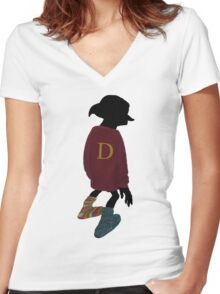 Dobby is a Weasley Now  Women's Fitted V-Neck T-Shirt