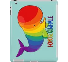 Homosexuwhale - with text iPad Case/Skin
