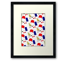Doctor Who Pattern Framed Print