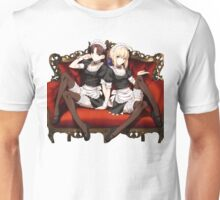 Rin and Saber Maid Outfit Unisex T-Shirt