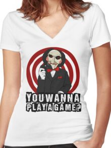 Billy - You wanna play a game? Women's Fitted V-Neck T-Shirt