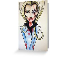 Girl in the Blue Jacket Greeting Card