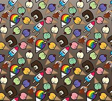 Chocolate Ombre Frosty Treats by happynerdcore