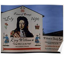 """"""" King Billy's on the Wall"""" Poster"""