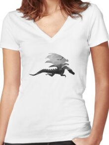 Dragon inception  Women's Fitted V-Neck T-Shirt