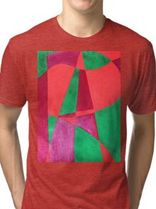 ART painted in abstract word art  Tri-blend T-Shirt