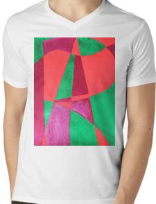 ART painted in abstract word art  Mens V-Neck T-Shirt