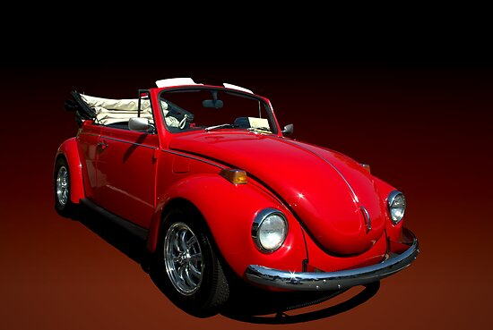 "1971 VW Beetle Convertible ""Beetle Mania"" by TeeMack"