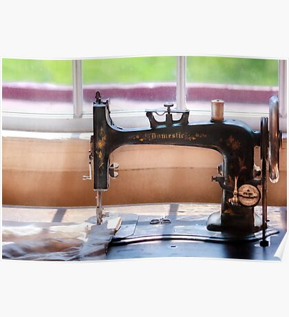 Sewing Machine - A stitch in time Poster
