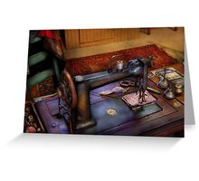 Sewing Machine - Sewing Project Greeting Card