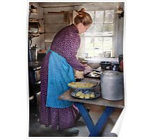 Baker - Preparing Dinner Poster
