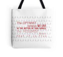 dr.chilton quote Tote Bag