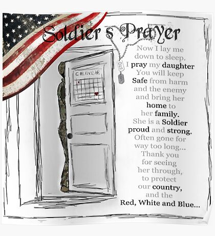 Soldier's Prayer for Daughters Poster