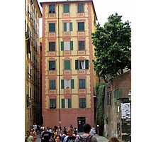 Tower House at Camogli  Photographic Print