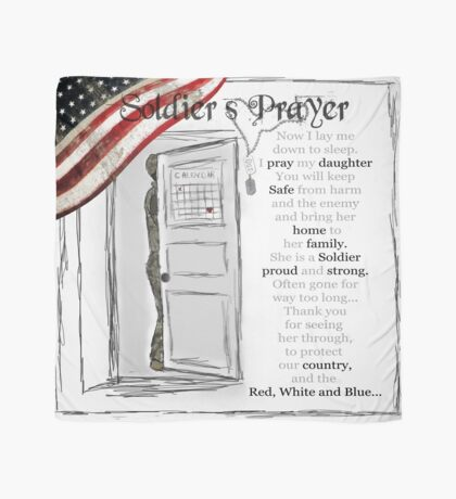 Soldier's Prayer for Daughters Scarf