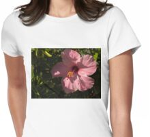 Crisp Pink Hibiscus Shadows Womens Fitted T-Shirt
