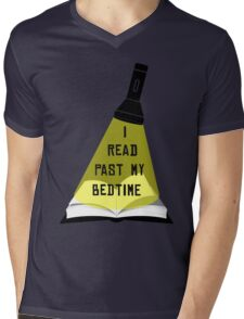 I Read Past My Bedtime Mens V-Neck T-Shirt
