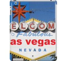 Welcome to Fabulous las vegas iPad Case/Skin