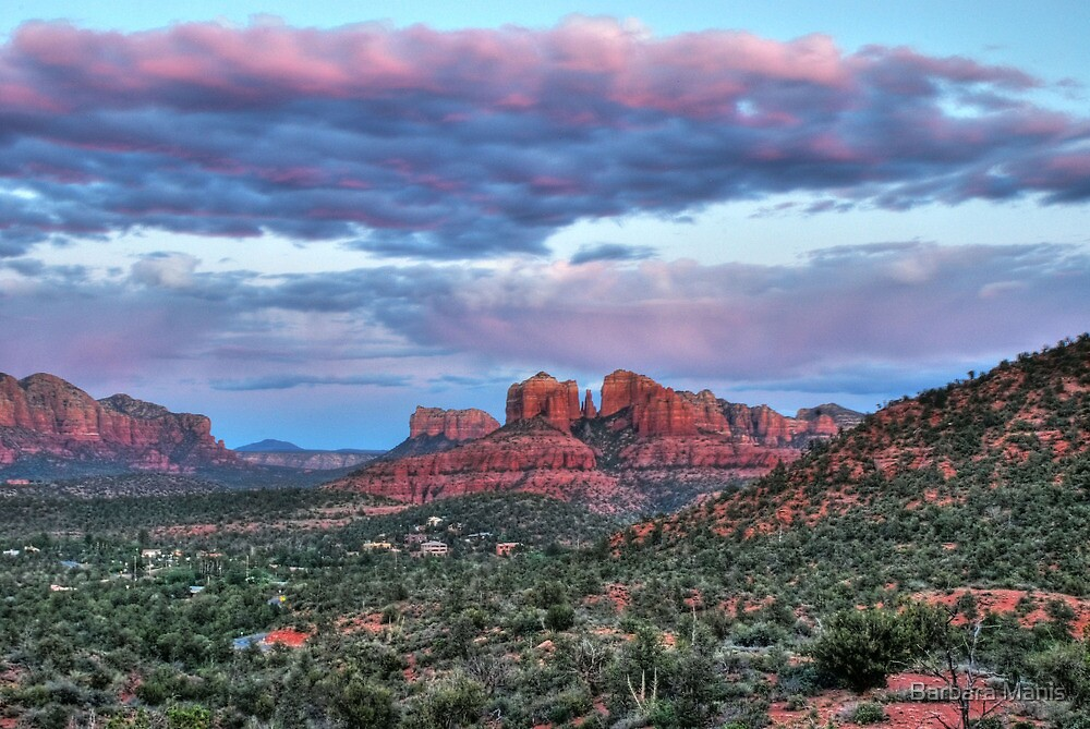 Sedona Sunset by Barbara Manis