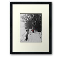 The Dog in the Red Coat Framed Print