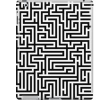 Elegant Black and White Maze Pattern iPad Case/Skin