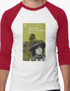 Doctor Who and the Giant Robot - Penguin style Men's Baseball ¾ T-Shirt