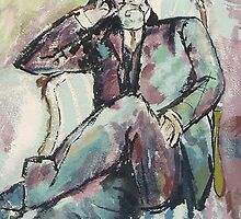 study of Duchamp's father by Michael Accorsi