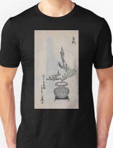 Yenshu ryu ikebana hiak bin no zu shiki konzatsu Flower arrangement in the Enshu style V1 1897 0035 T-Shirt