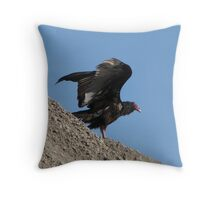 Turkey Vulture too Throw Pillow
