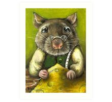 Rat the tailor Art Print