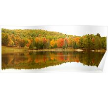 Autumn Reflection Panoramic View Poster
