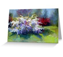 Wisteria Garden from Original Pastel painting by Madeleine Kelly Greeting Card