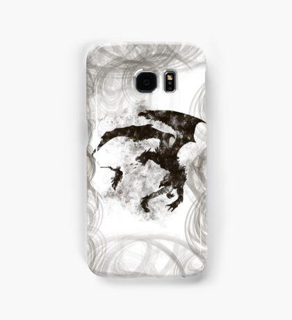 Dragonfight-cooltexture B&W Samsung Galaxy Case/Skin