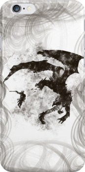 Dragonfight-cooltexture B&W by GiorgosPa