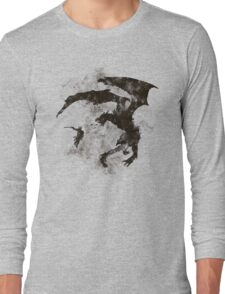 Dragonfight-cooltexture B&W Long Sleeve T-Shirt