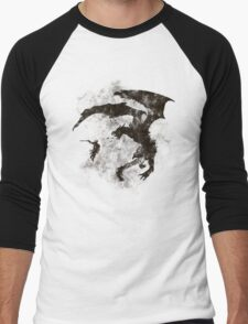 Dragonfight-cooltexture B&W Men's Baseball ¾ T-Shirt
