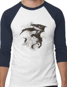 Dragonfight-cooltexture B&W Men's Baseball ¾ T-Shirt