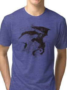 Dragonfight-cooltexture B&W Tri-blend T-Shirt