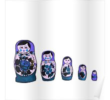 Russian Nesting Dolls - Purple Poster